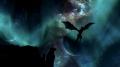 Drachenflug bei Nordlicht (von KillAndDestroy)