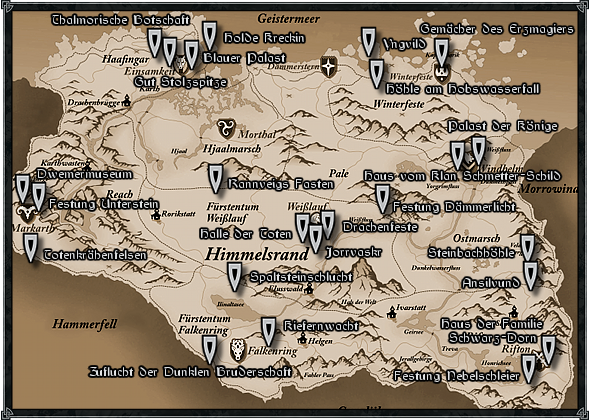 Oblivion Karte.Skyrim Oblivion Morrowind World Of Elder Scrolls Skyrim Die